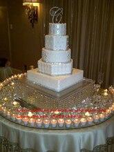 50 см диаметр большой свадебный торт стоят подсвечник Акриловые Кристалл Свадебный Centerpiece реквизит украшения