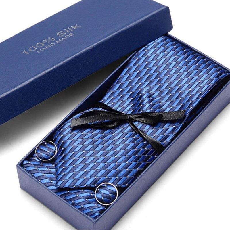 Blue Polka Dot Silk Tie 7 5cm Men Tie Set Luxury Grey Blue Pink Red Floral Ties for Men Wedding Ties Handkerchiefs Cufflink in Men 39 s Ties amp Handkerchiefs from Apparel Accessories