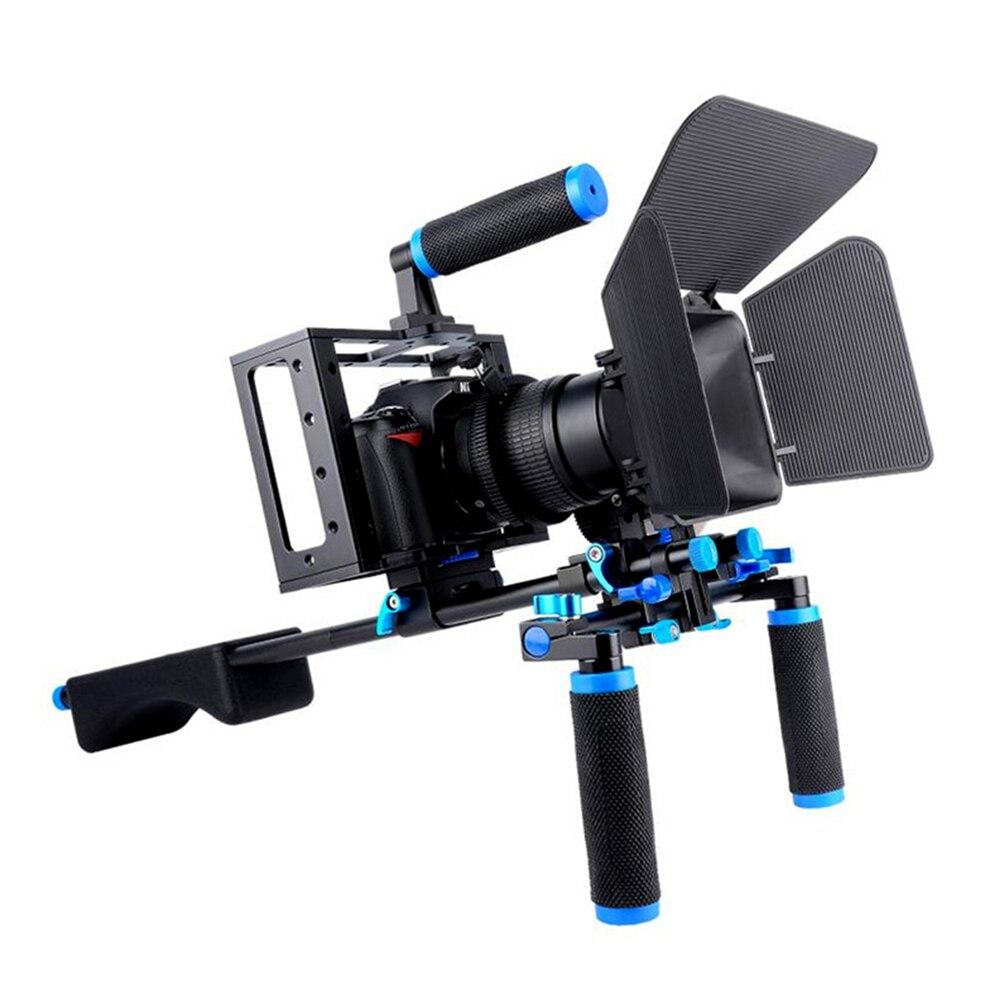 Yelangu DSLR plate-forme caméra Cage Kit système de stabilisateur d'épaule plate-forme vidéo pour Canon 5D Mark III IV 6D 7D Nikon D7200 Sony A7 GH5 GH4