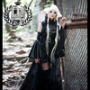 Chobits Freya Black Long Wedding Dress Halloween Cosplay Costume Outfit Headdress Dress Sleeves Pants Custom Made