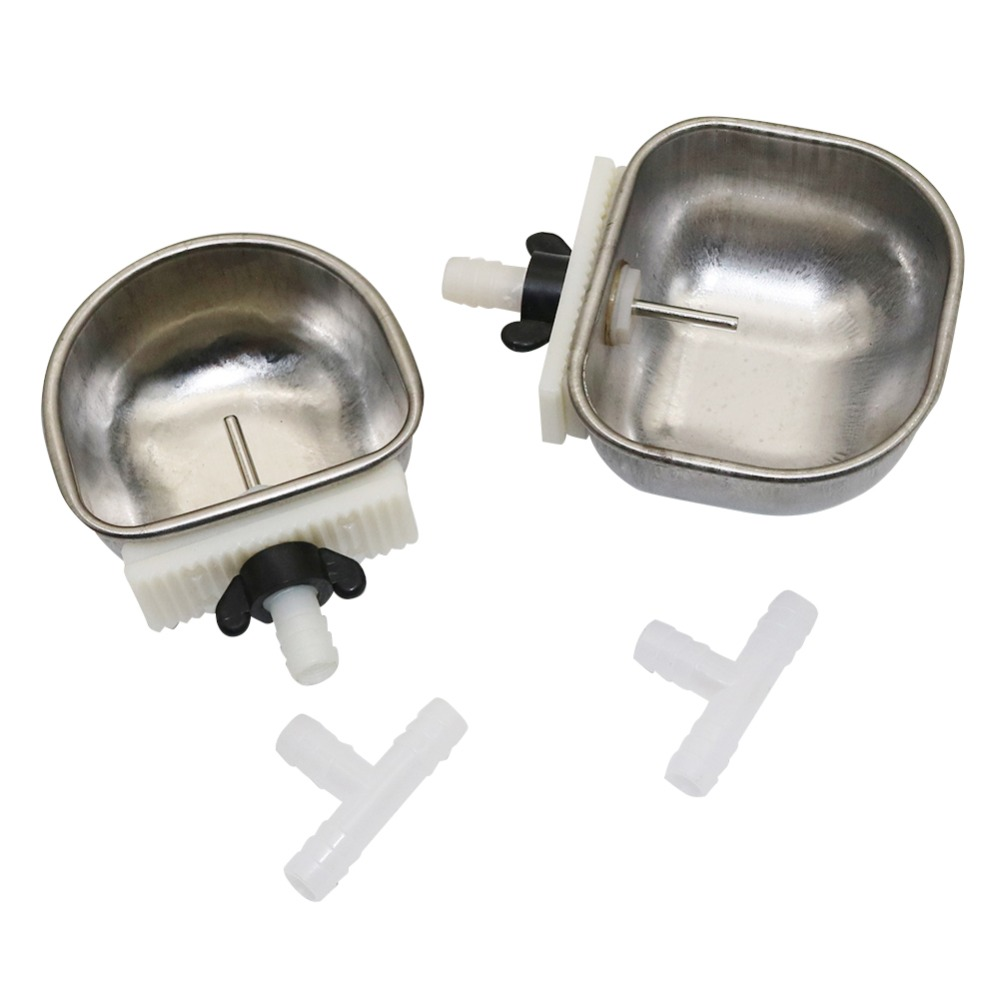 40 Pcs Anti scratch Stainless Steel Rabbit Automatic Drinking Water Bowl Fountains Rabbit Long Hair Rabbit