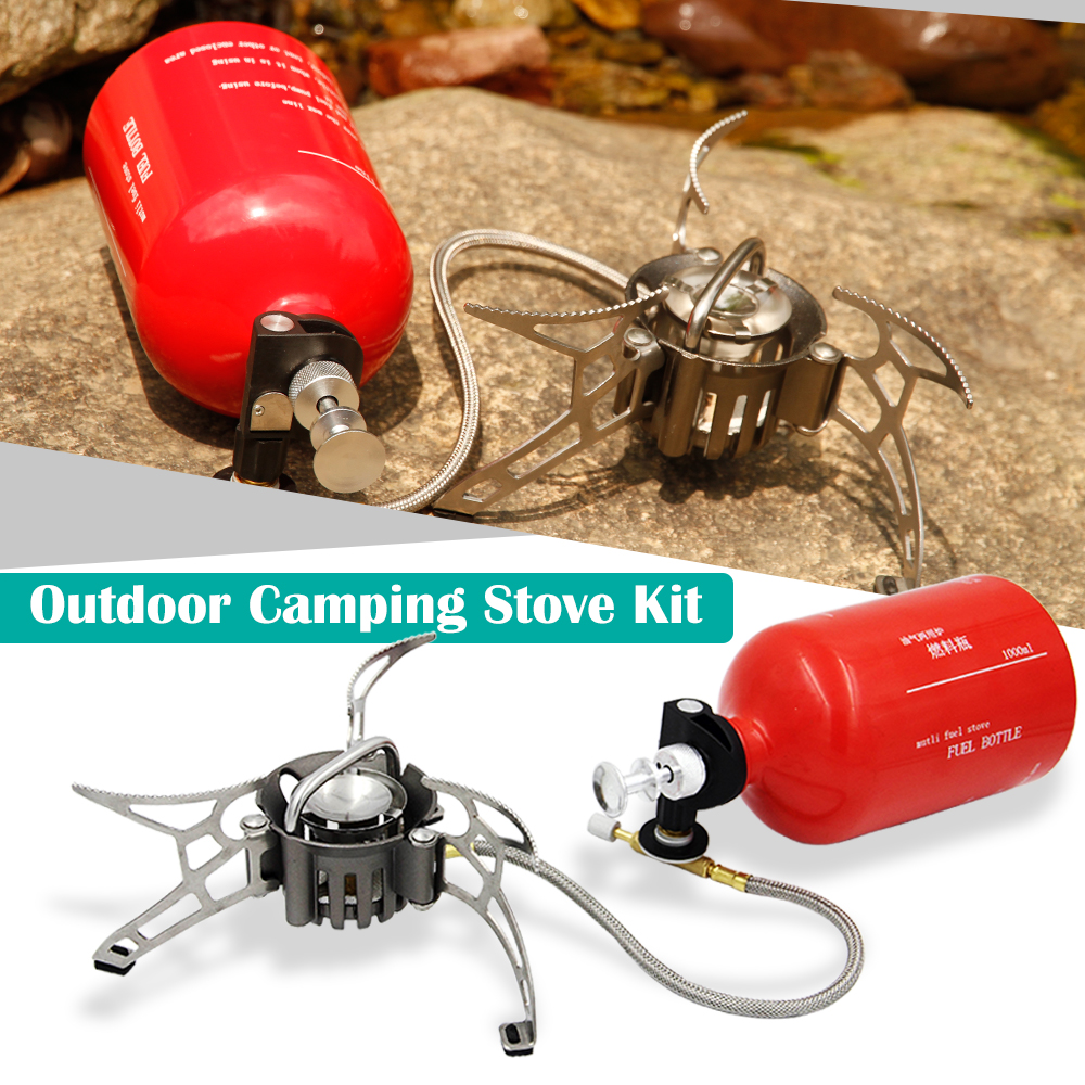 Outdoor Camping Stove Windshield Empty Gas Tank Gas Pump Foldable Gas Stove Oil Gas Multi Use