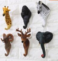 Newst Creative Animal Design Wall Hook 2016 Fashion Home Decor Modern Resin Animal Head Coat Hook