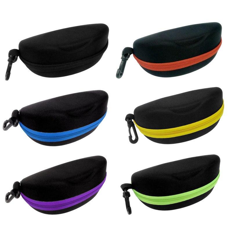 Zipper Eye Glasses Sunglasses Hard Case Box Portable Protector Black Sunglasses Box Lt88 Pure White And Translucent Men's Glasses