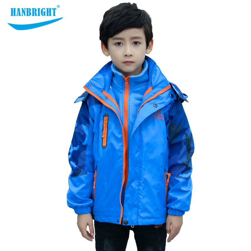 Thicken Boy Lining Outdoor Jacket Autumn and winter coat Stitching Coat Outdoor wind Coats Detachableback lining keep warm coat Thicken Boy Lining Outdoor Jacket Autumn and winter coat Stitching Coat Outdoor wind Coats Detachableback lining keep warm coat