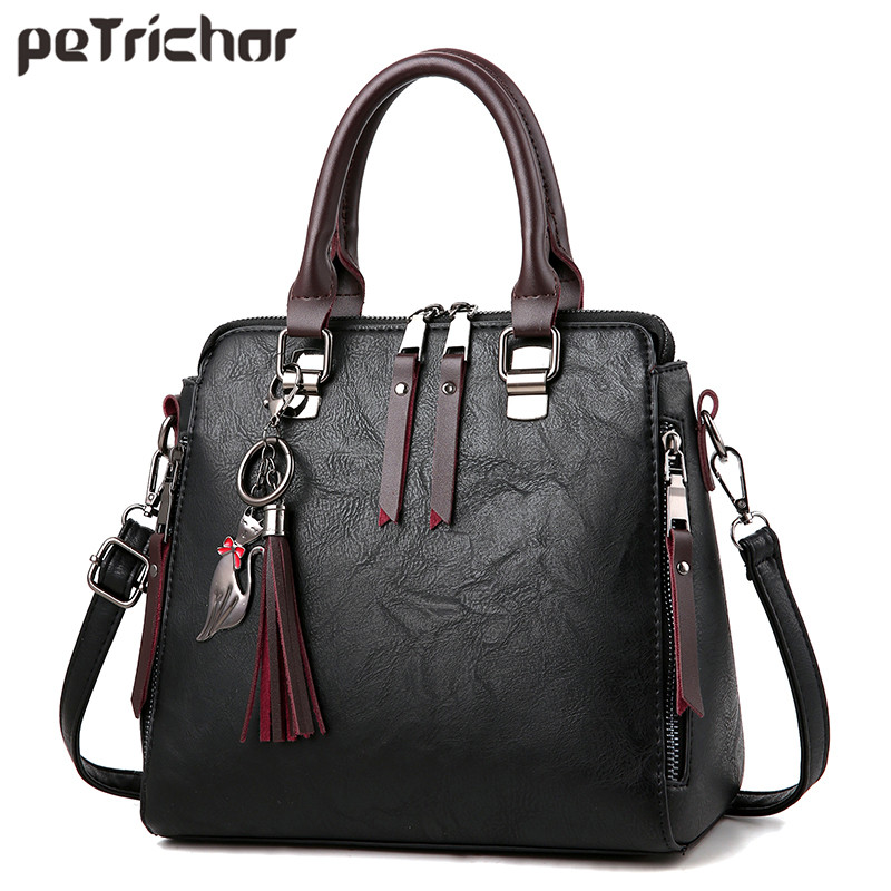 Fashion Tassel Shoulder Bag Women High Quality Leather Female Crossbody Messenger Bags Sac Ladies Tote Bolsa Women's Handbag women bags handbag female tote crossbody over shoulder sling leather messenger small flap patent high quality fashion ladies bag