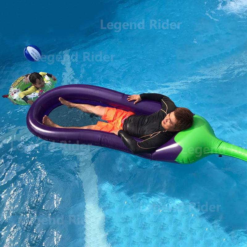 275cm 98 Inch Swimming Pool Air Matters Inflatable Eggplant Pool Float For Adlut Water S Inflatable Island Beach Fun Toys
