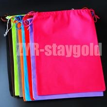 Organizer bag home travel organizador non woven fabric double rope storage shoes bag 9 colors free shipping