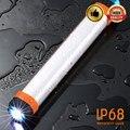 DC5V аварийный фонарик SOS USB перезаряжаемый портативный фонарик IP68 Водонепроницаемый 7800mAh внешний аккумулятор портативные фонари для пеших п...