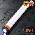 DC5V Notfall Taschenlampe SOS USB Aufladbare Tragbare Taschenlampe IP68 Wasserdichte 7800mAh Power Bank Bewegliche Laternen Wandern-in Neuheit Beleuchtung aus Licht & Beleuchtung bei