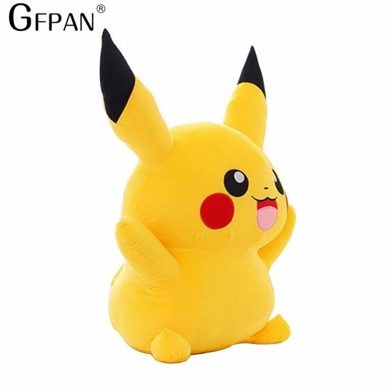 GFPAN 1pc 22cm Pikachu Plush Toys Cute Stuffed Animal Dolls Movie Popular Hot Doll Children Toys Christmas Gift  High Quality