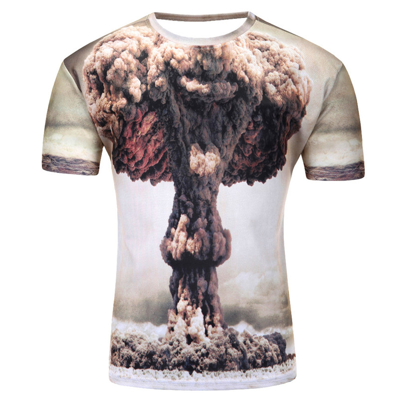 3D Printed T-Shirts Silhouette of Ballerina in Jump On The Radiation Short Sleev
