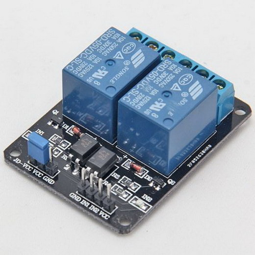 2 Channel 5V Relay interface board controlled directly by Microcontroller VE275 P