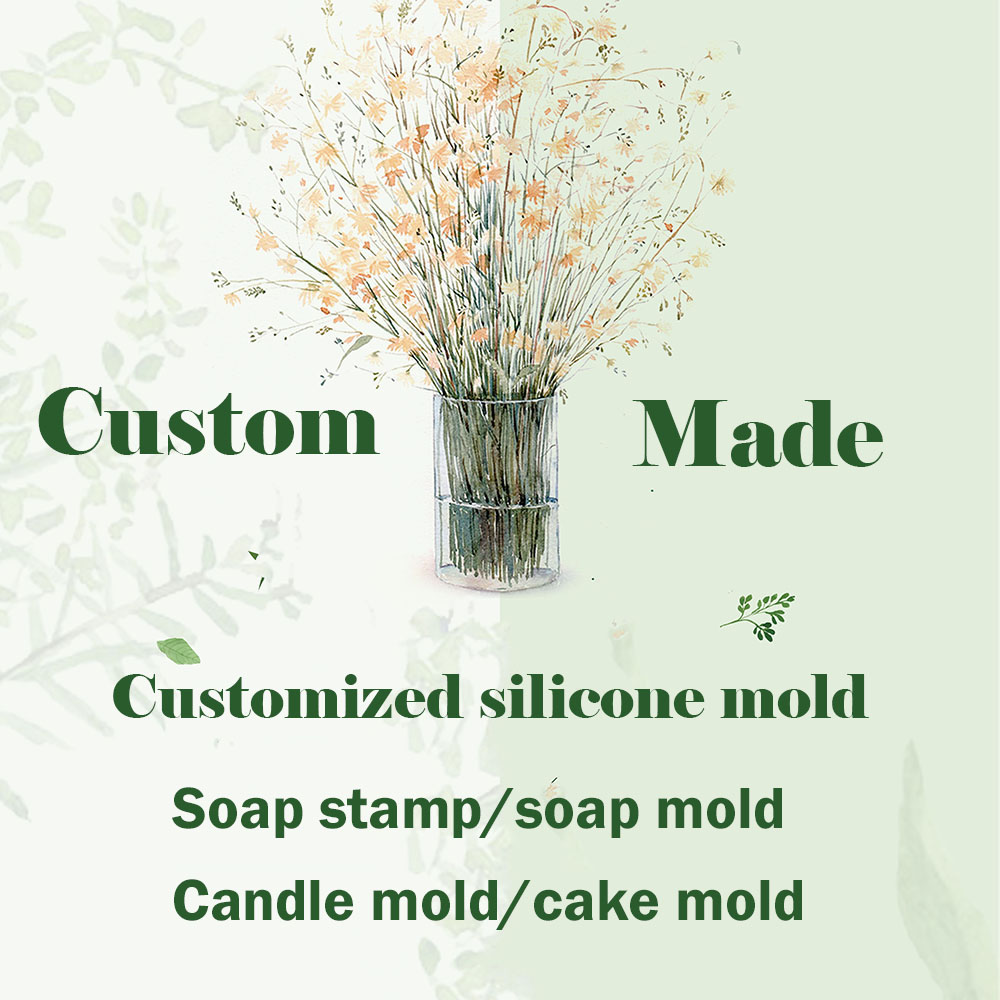 Custom made silicone soap mould Customize DIY Soap stamp printed pattern Customized Logo design candle mold fondant cake molds