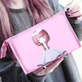 Cute Cartoon Toiletry  Wash Bags High Capacity Princess Girls Nylon Cosmetic Bag with Mirror