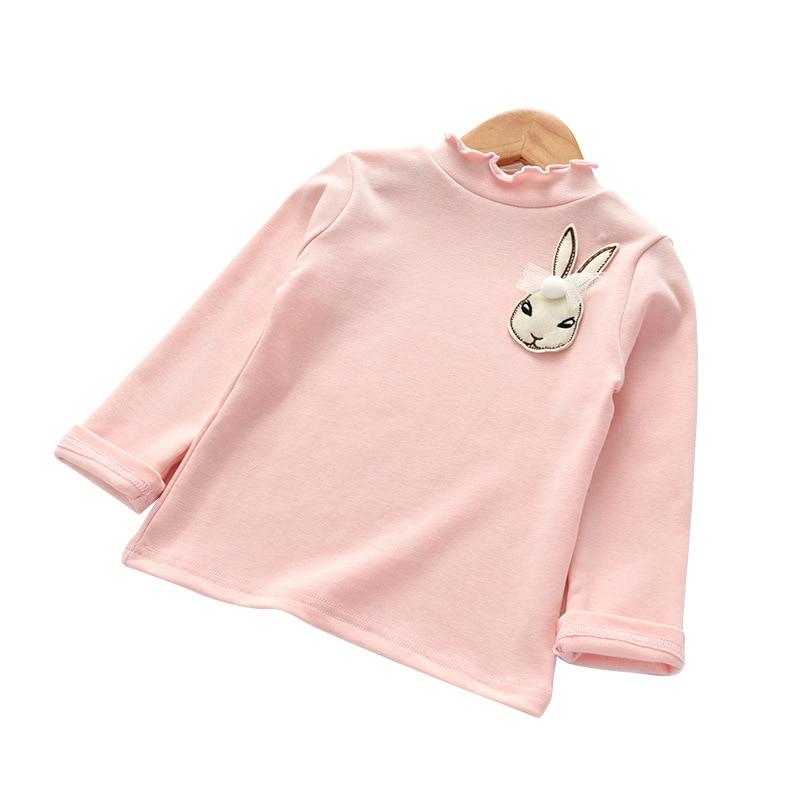 girl Tshirts blouse shirt children warm cotton casual backing Long Sleeve Shirt