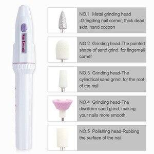 Image 3 - Mini elektryczna wiertła do paznokci profesjonalne tokarki bufor do Manicure Pedicure wiertła do frezowania przenośny żelowy przyrząd do usuwania naskórka