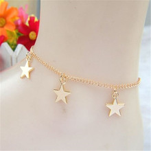FD4343 new Women Golden Plated Star Ankle Chain Anklet Bracelet Foot Beach Jewelry