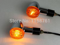 FREE SHIPPING Chrome Amber Bullet Turn Signals Lights For Honda Shadow VT VTX VTX1300 Goldwing