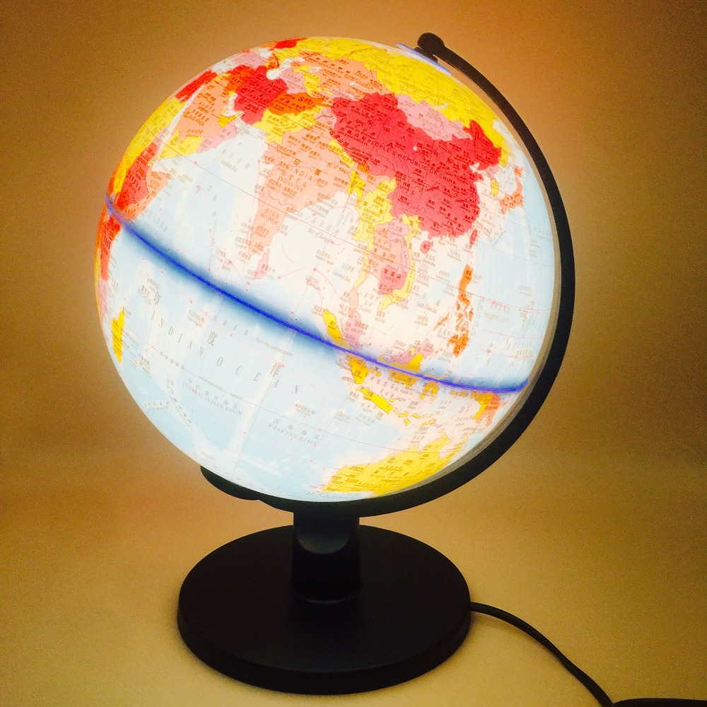 2018 Illuminated Blue Ocean World Earth Globe Rotating Table Light
