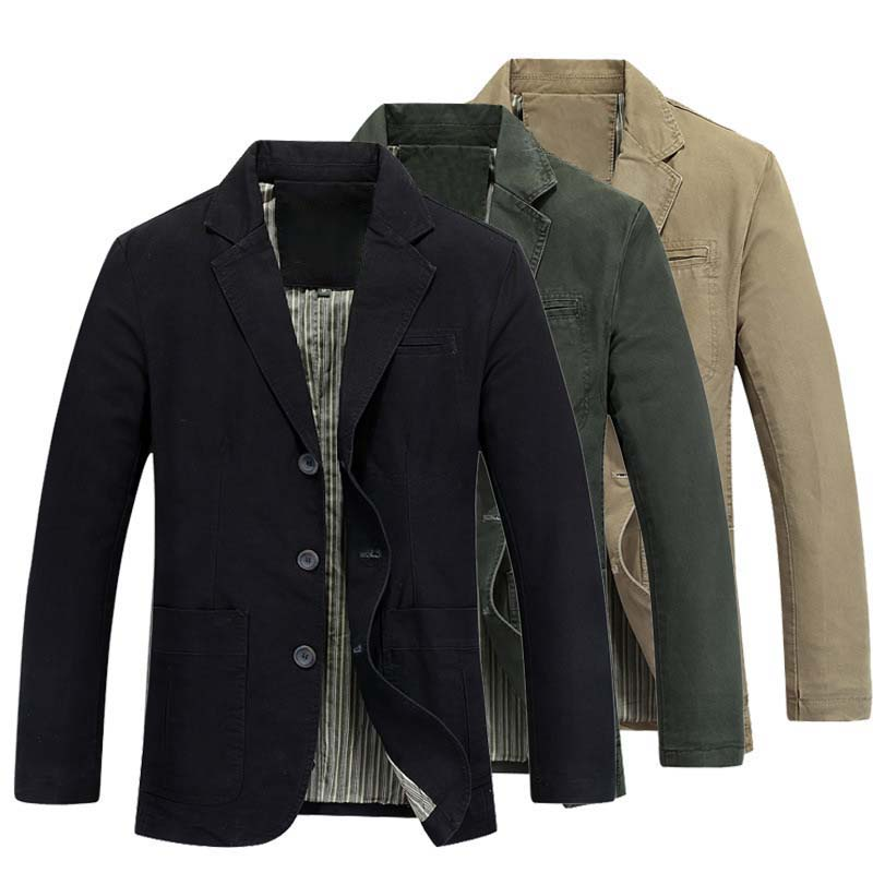 Autumn Spring New Fashion Brand Blazer Jacket Mens Suits Cotton Slim Fit Casual Blazer Jacket Coat Male Clothing Big Size 4XL