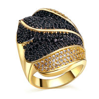 L Y Rings For Women High Quality Copper Ring Gold Plated With Cubic Zircon Finger Ring