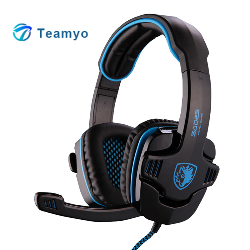 Teamyo Portable Gaming Headset 7.1 Surround Stereo Sound Headband Headphone With Retractable Mic Earphones casque For PC Gamer