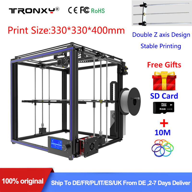 Best Tronxy X5S 3D Printer DIY full kit Direct Extruder heatbed Stable Large 3D Printing Size 330*330*400mm Double Z axis Design best tronxy p802m auto level 3d printer diy full kits direct extruder mk3 heatbed 3d printing 3dcstar p802 mhs