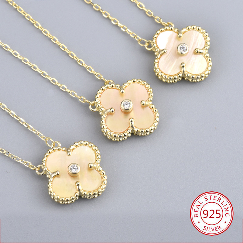 925 sterling silver necklace 2019 new limited edition Christmas four-leaf clover female fashion network Christmas gifts hot925 sterling silver necklace 2019 new limited edition Christmas four-leaf clover female fashion network Christmas gifts hot