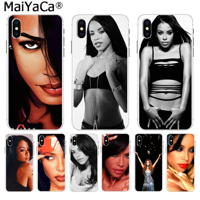 MaiYaCa Aaliyah Blues singer Sexy High Quality Classic Phone Accessories for iPhone 8 7 6 6S Plus X 10 55S SE XS XR XS MAX Cover