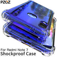 PZOZ For Xiaomi Redmi Note 7 Case Cover Silicone Shockproof Redmi 7 Note 7 Pro Transparent Protective Xiomi mi 9t note7 K20 case
