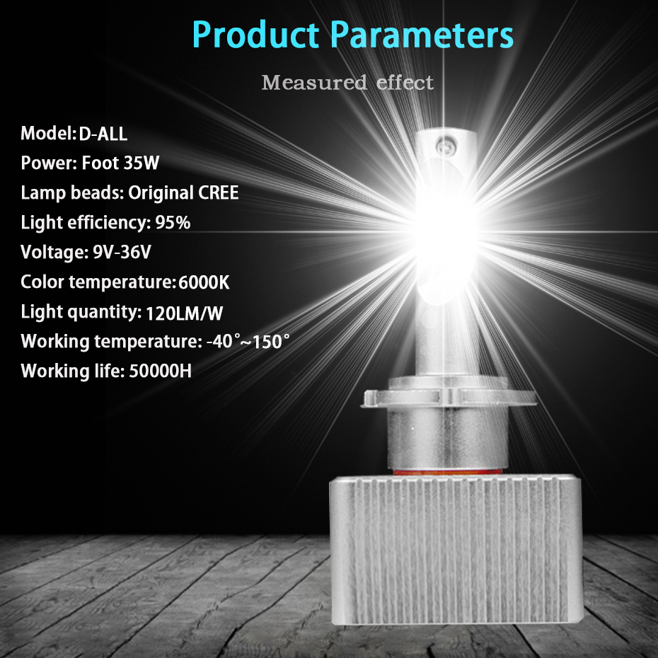 NEW D5S D1S D3S D2S D4S LED Bulb Super Bright D1R D3C Car Headlights 70W 7600Lm Same Size As Original All in One DC 12V 6000K-in Car Headlight Bulbs(LED) from Automobiles & Motorcycles    2