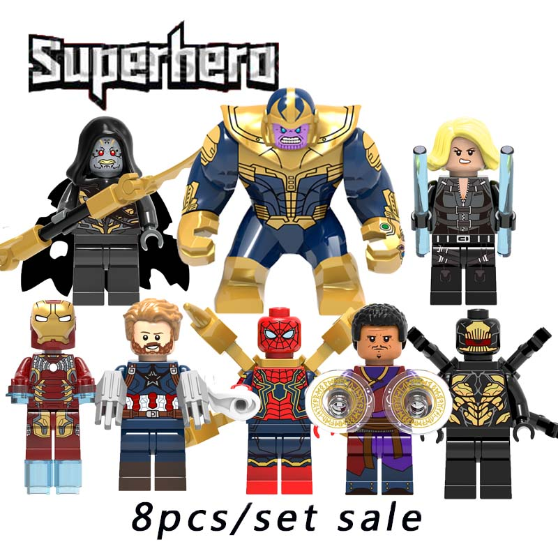 Super Hero Wong Corvues Glaive Outrider Black Window Thanos Surtur Doctor Strange Legoinglys Building Block Toy For Kid X0186