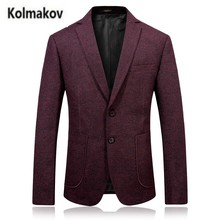 KOLMAKOV 2017 autumn new high quality men's fashion suit Business casual blazers,single breasted jacket blazer men,size M-3XL