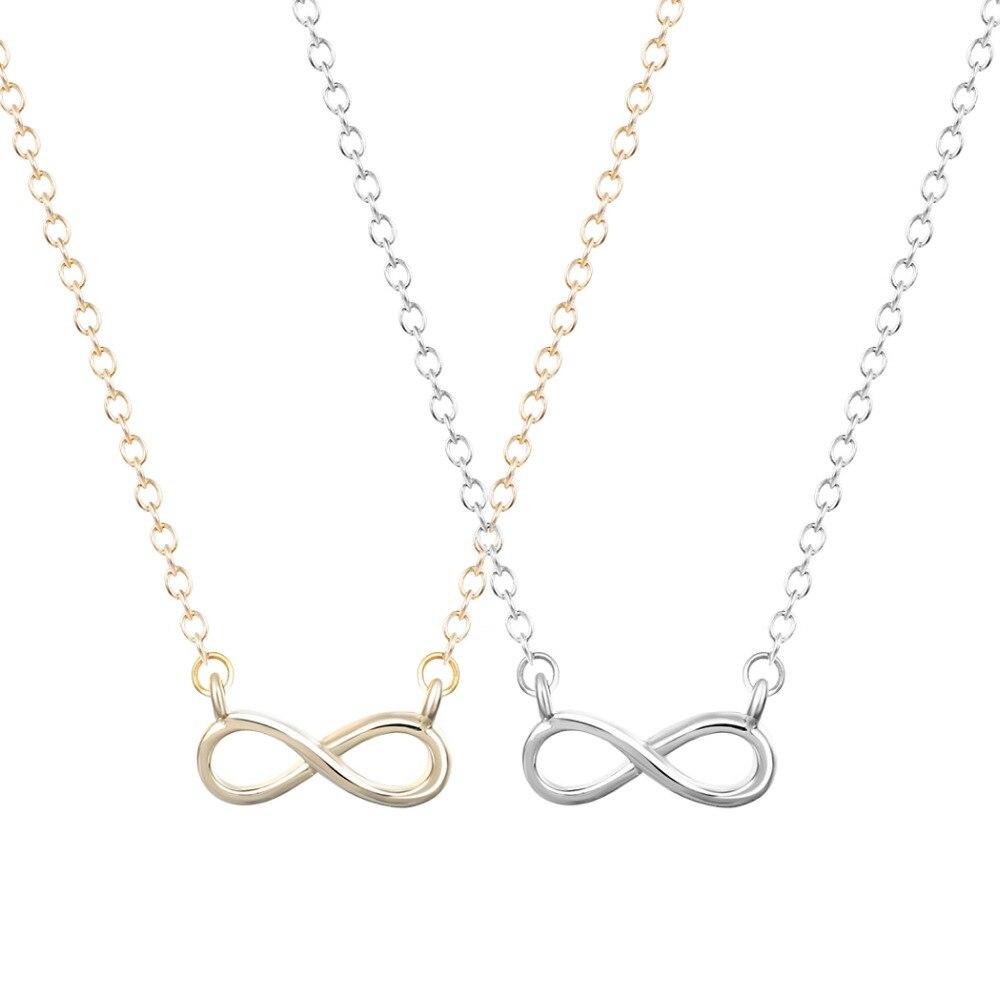 b7684e18e6 Qiamni venta al por mayor caliente 30 unids/lote único 8 Infinity Collar  para mujer y Niñas moda joyería regalo