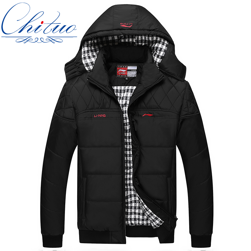 Autumn And Winter The new men s leisure hooded jacket warm coat jacket male taxi thick