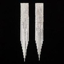 Warme Farben Women Sexy Drop Earrings Rock Zircon 925 Silver Crystal from Swarovski Earring Party Fine Jewelry HipHop Brincos