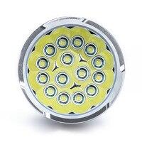 38000LM 15x  XM L T6 LED Flashlight Torch 4x 18650 Hunting Light Lamp C3 18650 4x lamp lightt6 light -