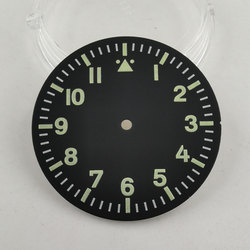 35.5mm black sterial dial luminous Watch Dial fit for Miyota 8215 821A Mingzhu 2813 Automatic movement-BP13