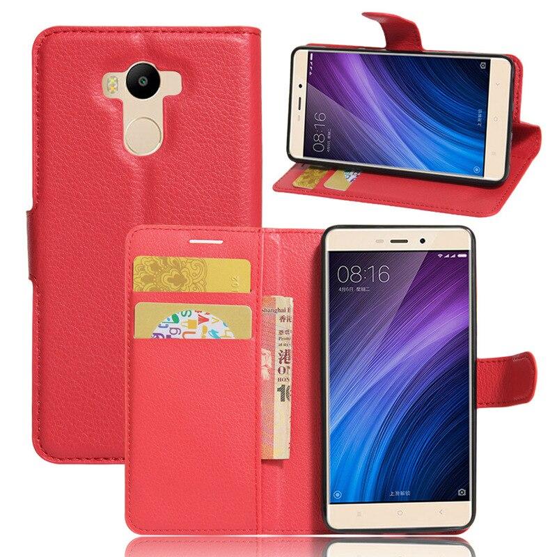 Mejores ventas de lujo wallet case para xiaomi redmi 4 flip cubierta de la pu so