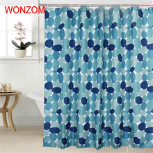 WONZOM Stone Shower Curtains with 12 Hooks For Bathroom Decor Modern 3D Polyester Bath Waterproof Curtain Accessories