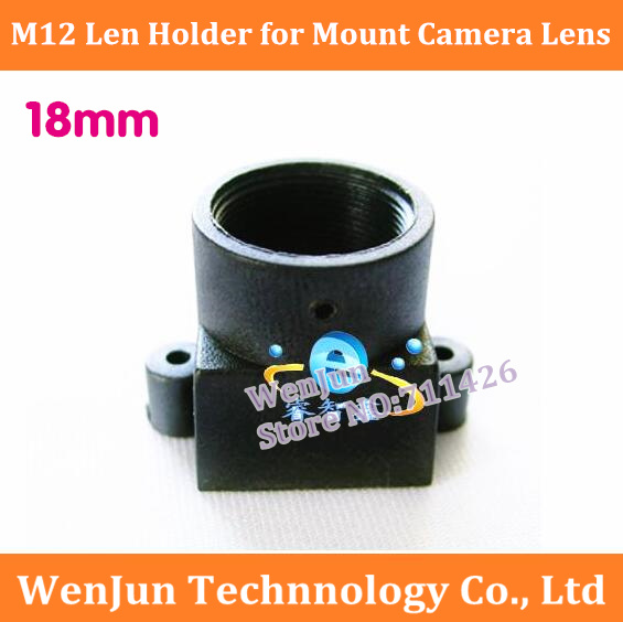 NEW  M12 Lens Holder For Mount Amera Lens Mount High Frame High Stud Lens Base CCD M12x0.5 High Quality 18mm Len Holde