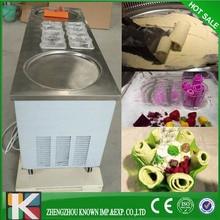 High Efficiency round pan fried ice cream machine/roll fried ice cream machine(2+10)