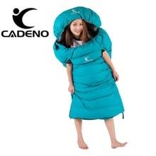 Сверхлегкий спальный мешок для кемпинга 4 сезона спальный мешок зимний спальный мешок пуховый конверт Тип Открытый Кемпинг Аксессуары