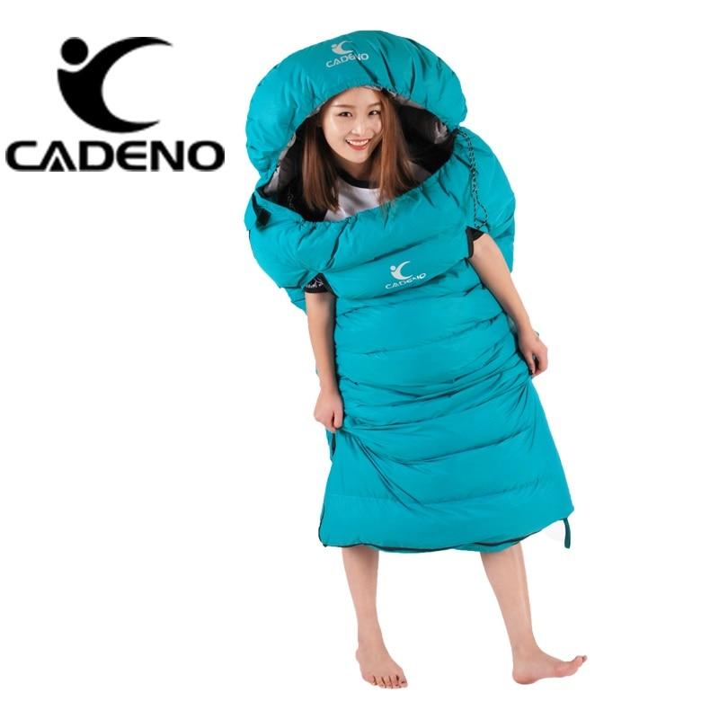 超軽量寝袋キャンプ 4 シーズン寝袋冬の寝袋ダウン封筒型キャンプアクセサリー  グループ上の スポーツ & エンターテイメント からの 寝袋 の中 1
