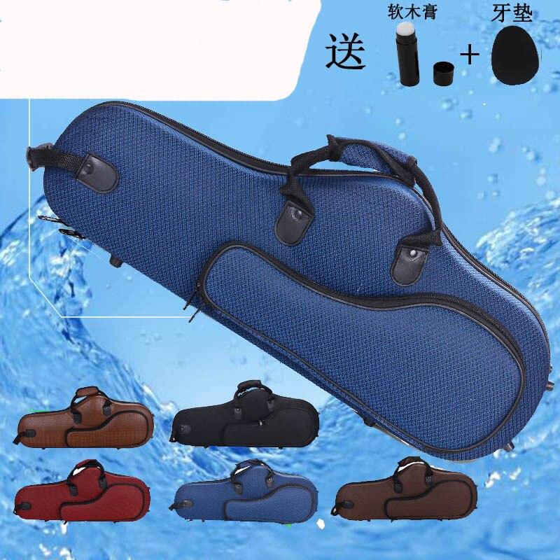 Durable Alto Eb Saxophone Bag Sax Case Double Strap Box purple color alto saxophone glass fiber case light durable lock blue new 8