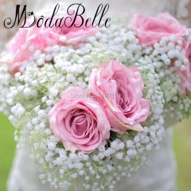 2017 Neue Kunstliche Rose Hochzeit Bouquet Braut Brautjungfer Blumen
