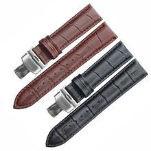 Ремешок из натуральной кожи для наручных часов браслет крокодиловый