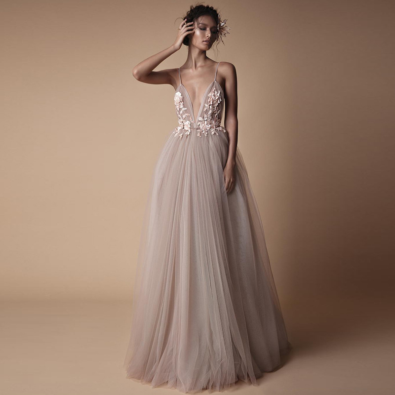Verngo Boho Wedding Dress 2019 New Backless Champagne Draped Bridal Dress Custom Design Beach Wedding Gowns Vestido De Noiva