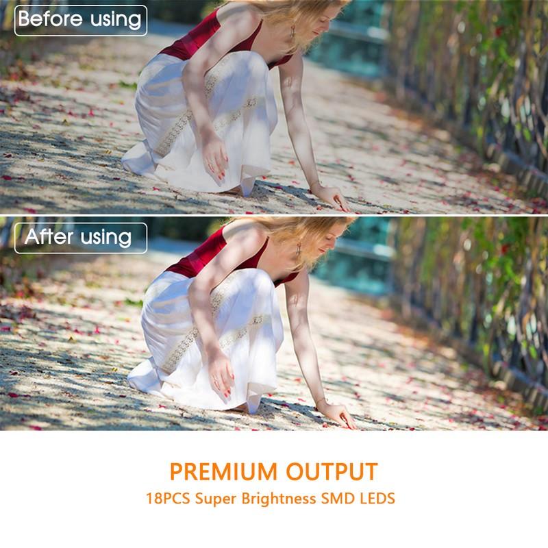 Travor 18 pcs Macro LED Ring Flash Light For Canon Nikon Panasonic Pentax Olympus DSLR Camera 4